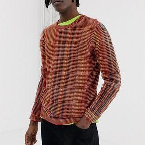 ASOS Sweater in Rainbow Stripe
